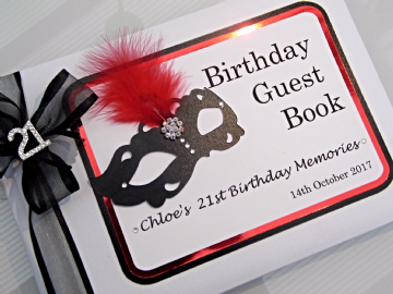 Masquerade Ball 21st Birthday Guest book